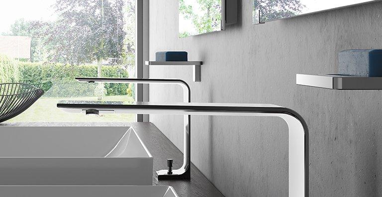 Mit einem Armaturenauslauf, der an den Kanten nur 3 Millimeter stark ist, gehört die ZL weltweit zu den flachsten Armaturen.