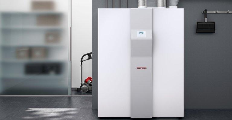 Lüftungs-Integralgerät LWZ 504 mit den Funktionen Heizen, Lüften, Warmwasser und Kühlen