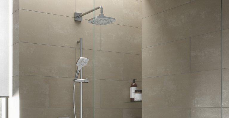 """Elegantes Design zeichnet die modernen """"DaySpa""""-Duschen aus -- erhältlich in rund und eckig."""