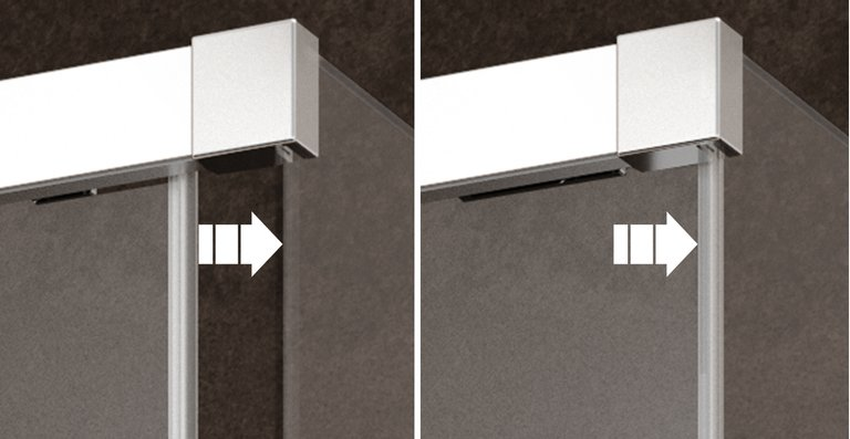 Der serienmäßige Soft-Open und Soft-Close Mechanismus sorgt für ein angenehmes und leichtes Öffnen und Schließen der Türen.
