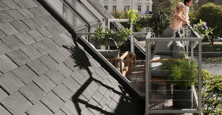 Mit dem Dachbalkon entsteht sogar zusätzliche Wohnfläche, da die Balkonfläche dort liegt, wo der Raum unter dem Dach wegen seiner geringen Höhe ohnehin nicht genutzt werden kann.