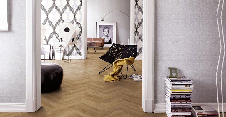 Insbesondere auf großen Flächen entfaltet der elegante Bodenbelag seine volle optische Wirkung
