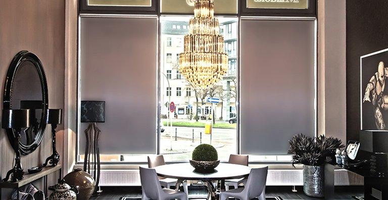 eRollo sind optimal für große Fensterflächen geeignet