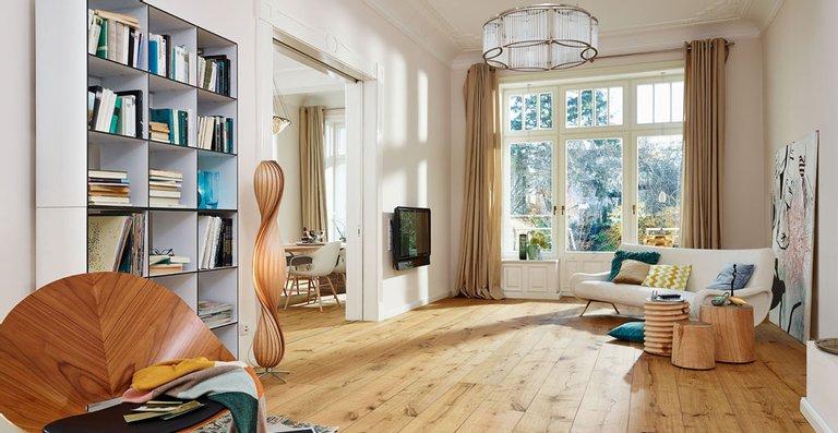 MEISTER Lindura-Holzboden HD 300 mattlackiert | naturgeölt Eiche rustikal 8410 | gebürstet | naturgeölt