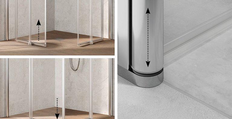 Funktionelle Feinheit: Hebe-Senk-Mechanismus bei allen Türen.