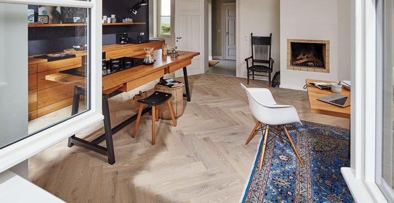 MEISTER Parkett Residence PS 500 mattlackiert | naturgeölt Eiche authentic weiß 8563 | gebürstet | naturgeölt