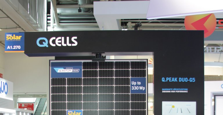 Das Q.PEAK DUO-G5 Solarmodul mit Halbzellen gewann den Intersolar AWARD 2018.