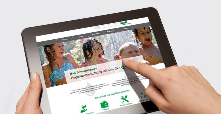 Unter www.mall-zisterne.de finden interessierte Hausbesitzer alle Informationen rund um das Thema Regenwassernutzung.