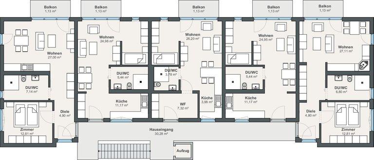 Mehrfamilienhaus als Wohngemeinschaft von WeberHaus GmbH & Co. KG ...