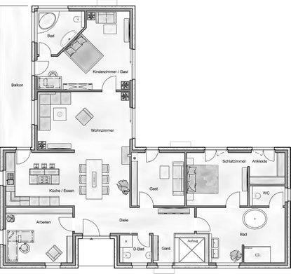 Bei Der Planung Seines Persönliches Traumhauses Hat Der Bauherr Einen  Separaten Bereich Für Gäste Bzw.