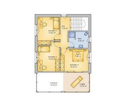 Planungsbeispiel Einfamilienhaus 154H20 - Grundriss OG