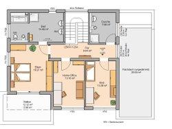 Grundriss Kern-Haus Bauhaus Cube Obergeschoss