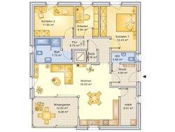 Bungalow Planungsbeispiel 106H10 - Grundriss