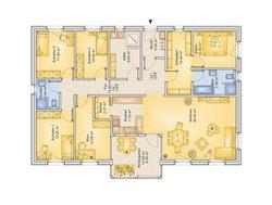 Bungalow Planungsbeispiel 160H10 - Grundriss