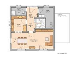 Grundriss Kern-Haus Stadtvilla Pura Erdgeschoss