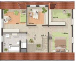 Grundriss Dachgeschoss Landhaus 142