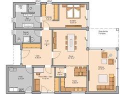Grundriss Kern-Haus Bungalow Select