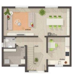 Grundriss Erdgeschoss Lifestyle 120