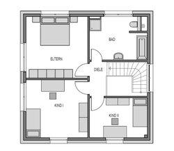 Im Obergeschoss ist alles passend für eine Familie geplant - jedoch sind die Heinz von Heiden-Grundrisse flexible und können den eigenen Bedürfnissen angepasst werden.
