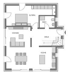 Das Heinz von Heiden Musterhaus Ratzeburg - ein Familienhaus mit allem, was das Herz begehrt. Das Ergeschoss misst 82,22 qm. Wohn-Ess- und Kochbereich sind offen gestaltet.