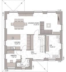 Stadtvilla 160 - Grundriss Erdgeschoss
