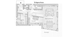 hebelHAUS EFH Kubus 25.87 Grundriss Erdgeschoss