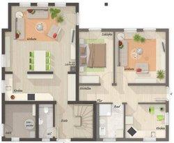 Grundriss Erdgeschoss Domizil 192 - Einliegerwohnung