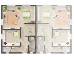 Grundriss Erdgeschoss Doppelhaus Behringen 116