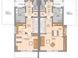 Grundriss Doppelhaus Linus L Erdgeschoss