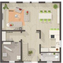 Grundriss Erdgeschoss Stadtvilla 145