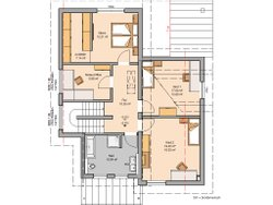 Grundriss Architektenhaus Akzent von Kern-Haus Dachgeschoss