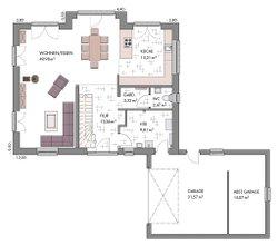 Kapitänshaus 190 - Grundriss Erdgeschoss