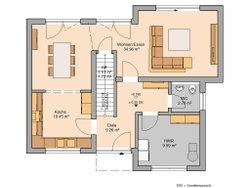 Grundriss Bauhaus Modus von Kern-Haus Erdgeschoss