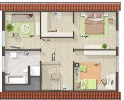 Grundriss Dachgeschoss Bodensee 129