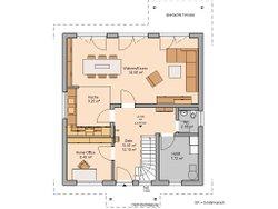 Grundriss Kern-Haus Familienhaus Jano Erdgeschoss