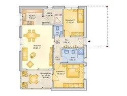 Bungalow Planungsbeispiel 95H10 - Grundriss