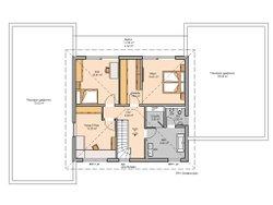 Kern-Haus Mehrfamilienhaus Vivaro Grundriss Obergeschoss