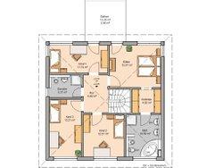 Grundriss Stadtvilla Centro von Kern-Haus Dachgeschoss