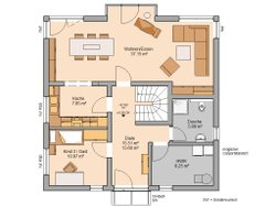 Grundriss Kern-Haus Stadtvilla Centro W EG