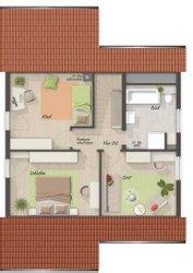 Grundriss Dachgeschoss Wintergartenhaus 118