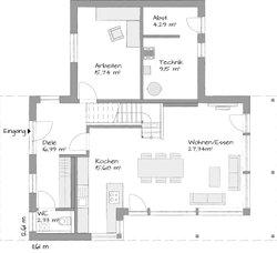 flachdachhaus kubos neudorf von kampa gmbh wohngl. Black Bedroom Furniture Sets. Home Design Ideas