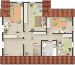 Grundriss Dachgeschoss Domizil 192 - Einliegerwohnung