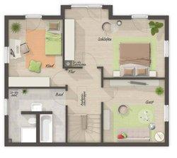 Grundriss Obergeschoss Lichthaus 121 - Modern