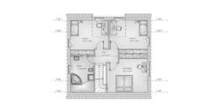 hebelHAUS EFH family 10.203 Grundriss Obergeschoss