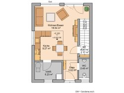 Grundriss EG Kern-Haus Singlehaus One