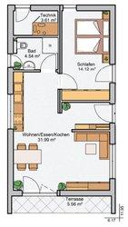 Albert Haus Singlehaus 54 - Grundriss