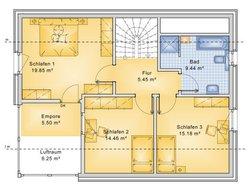 Planungsbeispiel Einfamilienhaus 139H15 - Grundriss OG