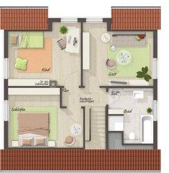 Grundriss Dachgeschoss Flair 113