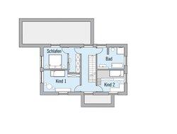 Grundriss Musterhaus Naturdesign DG