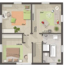 Grundriss Obergeschoss Stadthaus Flair 124